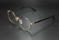 GUCCI GG0297Ok 003 Round Oval Black Shiny Black Demo Lens 52mm Unisex Eyeglasses