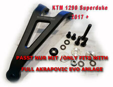 EVOTECH Auspuffhalter für KTM Superduke 1290 SDR ab 2017 mit FULL AKRAPOVIC EVO