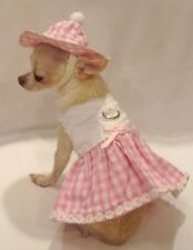 Harness Dress/Dog Dress/Dog clothes/ Little Daisy Set SIZE MED. or L -FREE SHIP