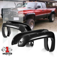Textured Black Pocket Bolt/Rivet Fender Flares Wheel Cover for 94-02 Dodge Ram