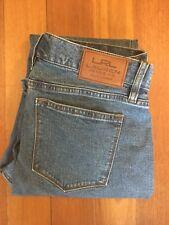 """Lauren Ralph Lauren Blue Denim Jeans High Waist Size 2P Waist 32"""""""