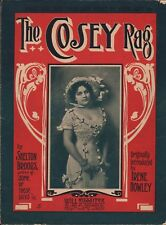 Cosey Rag 1911 SHELTON BROOKS Irene Howley Silent Film Star Sheet Music !