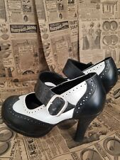 Good Condition, Size 8, Black & White Mary Jane style shoes, heels from Torrid