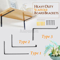 2Pcs 9.5'' DIY Industrial Metal Wall Mount Shelf Brackets Floating Boards Holder