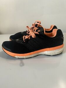 adidas SUPERNOVA GLIDE BOOST black/orange/white running shoes B34821 women's 8