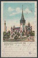 44156) Litho AK Düsseldorf Ausstellung 1902 Bochumer Verein Frankatur RANDSTÜCK