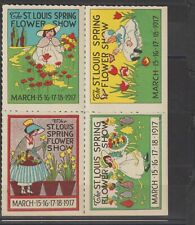 US Poster Stamp Block of 4 St Louis Flower Show