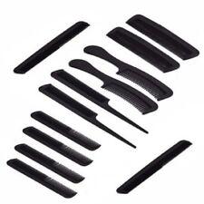 12 PC ASSORTED COMB SET HAIR COMBS BRUSH SMALL LARGE TEASING PRONG POCKET BAG