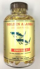 Golden Alaska Deep Sea Fish Oil Omega-3, 1000 Mg, 200 Capsules by NCB Cop.