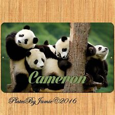 Personalized Custom Any Name Panda SIGN Wall Plaque New