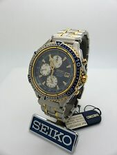SEIKO SDWC02P1 7T32-7E40 Vintage Alarm Chronograph New Old Stock! Box/Papers