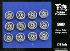 Verlinden 1:35 Sherman Rubber Damaged Wheels Resin Detail Set #2600
