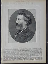 Illustrated London News Full Page B&W S6#84 May 1879 President of Royal Academy