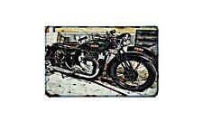 Bsa Wm20 Motorbike Sign Metal Retro Aged Aluminium Bike