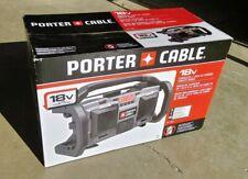 18V Porter Cable PC18JR Jobsite Radio Cordless Corded Work Tool 18 Volt