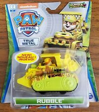 PAW PATROL Jungle Rescue RUBBLE Die-Cast Vehicle True Metal New. 3 Available.