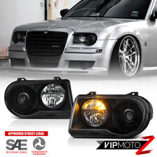 "2005-2010 Chrysler 300C ""SRT STYLE"" Black Projector Headlights Assembly LH+RH"