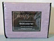 Hotel Style 600 Thread Count Full Damask Sheets Lavender Elegance