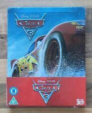 CARS 3 - LIMITED EDITION DISNEY STEELBOOK - 3D & 2D BLU-RAY - NEW & SEALED