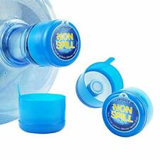 New listing 3 & 5 Gallon Water Jug Cap Replacement Non Spill Bottle Caps Anti Splash Peel Pa