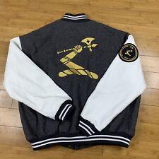 Men's Hennessy Varsity Letterman Jacket Size XXL Employee Exclusive Leather