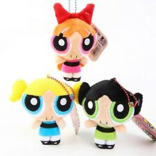 Set Of 3 Powerpuff Girls Plush Toy Baby Soft Doll 8cm Blossom Buttercup Bubbles