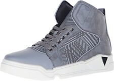 $98 Guess Men's Brice High Top Shoes Reflector Material In Grey Sneakers Sz 8.5