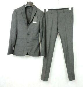 Asos Super Skinny Fit Grey Herringbone 2 Piece Suit Size 34/30 CR097 AA 05