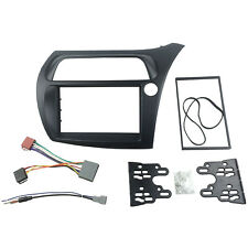 Double Din Radio Fascia for Honda Civic DVD Frame+ISO Wiring Antenna Adapter Kit