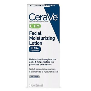 CeraVe PM Facial Moisturizing Lotion 3 fl oz (89ml) US Formula