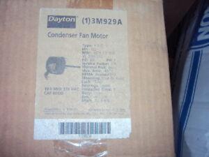 DAYTON 3M929 MOTOR , 1/2 HP , 1075 RPM ,208- 230 V , 48YZ  FRM , 2 SPEED