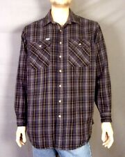 vintage Carhartt euc Gray Plaid Heavy Duty Cotton Flannel Work Shirt XL Tall