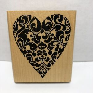 Stampendous Ornate Heart Rubber Stamp
