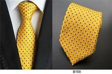 Yellow and Black Patterned Handmade 100% Silk Wedding Tie