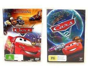 Cars 1 & 2 (DVD, 2006) Owen Wilson Region 4 Free Postage