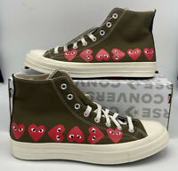 "CDG Converse Play Chuck Taylor All Star ""70 Multi Heart Sneakers 162973C"