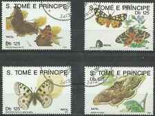 Timbres Papillons St Thomas et Prince 1076/9 o lot 2323
