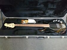Musicman Stringray 4 USA Fretless 3-EQ Bass Guitar (Black) (Pre-Owned)