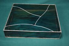"""Stained glass turntable dust cover - fits BSR 810 16.5"""" x 14.5"""""""