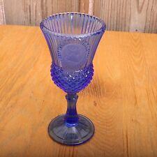 Blue Fostoria Avon George Washington Goblet Vintage