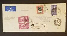 1963 Kathmandu Nepal to Hong Kong Military Attache Gurkha Engineer Airmail Cover