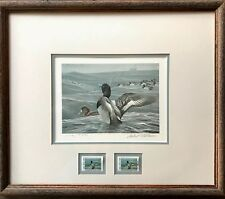 1988 NEW YORK DUCK STAMP PRINT Framed Matted Numbered Robert Bateman MINT