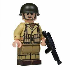 Lego Custom US ARMY NCO WW2 Full Custom Printing with Brickarms M1A1 -NEW-