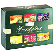 Ahmad Schwarzer Tee Set Fruitytea 6 Teesorten 60 Teebeutel Tea Collection London