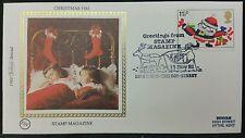 1981 Natale BENHAM SETA FDC CON TIMBRO MAGAZINE, 18/11/1981 con inserto