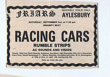 RACING CARS / RUMBLE STRIPS - FRIARS  press clipping 1977  (3/9/77) 9X5cm