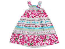 NUEVO CON ETIQUETA Niñas Bonita Multicolor Algodón Verano Vestido Vacaciones