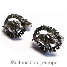 Trachten Silber Manschettenknöpfe Wildschwein silver cuff links