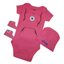 CONVERSE BABY GIRLS PINK VEST, HAT & BOOTIE SET BOXED - 0-6 MONTHS