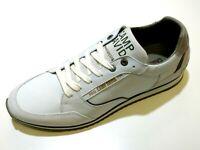 Camp David Herren Schuhe Halbschuh Schnürschuh Schnürer Sneaker 8229 white weiß